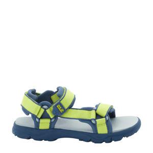 Seven Seas 3  sandalen lime/blauw kids