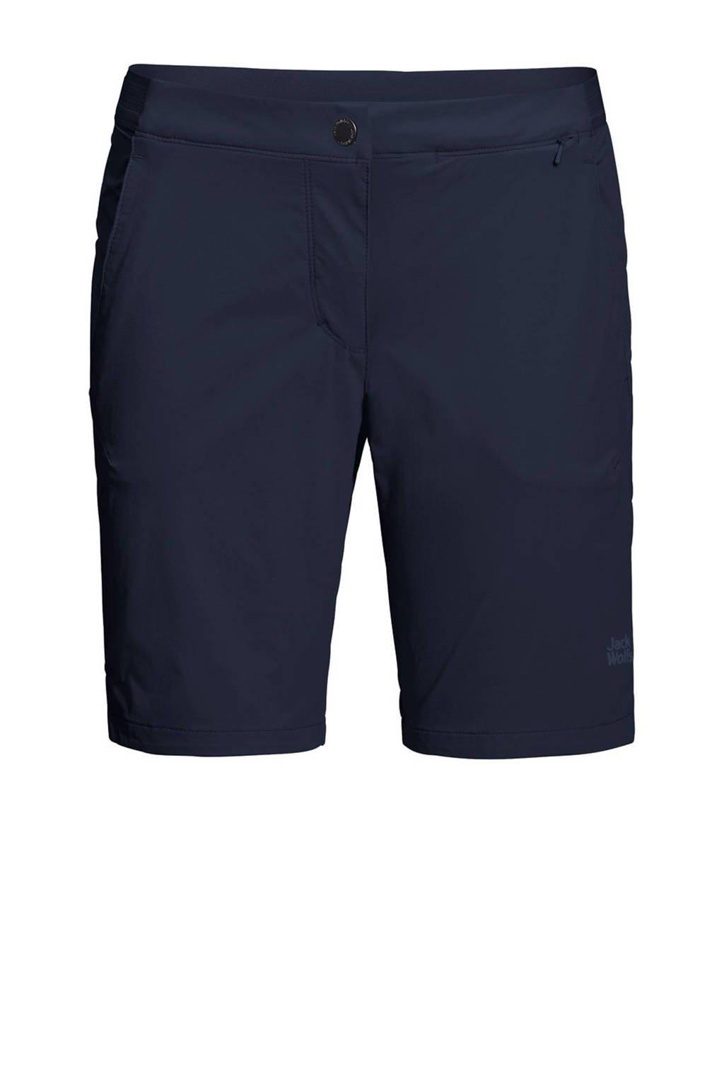 Jack Wolfskin korte outdoor broek donkerblauw, Midnight-Blue