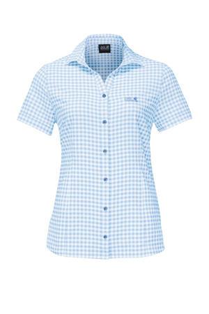 outdoor blouse lichtblauw
