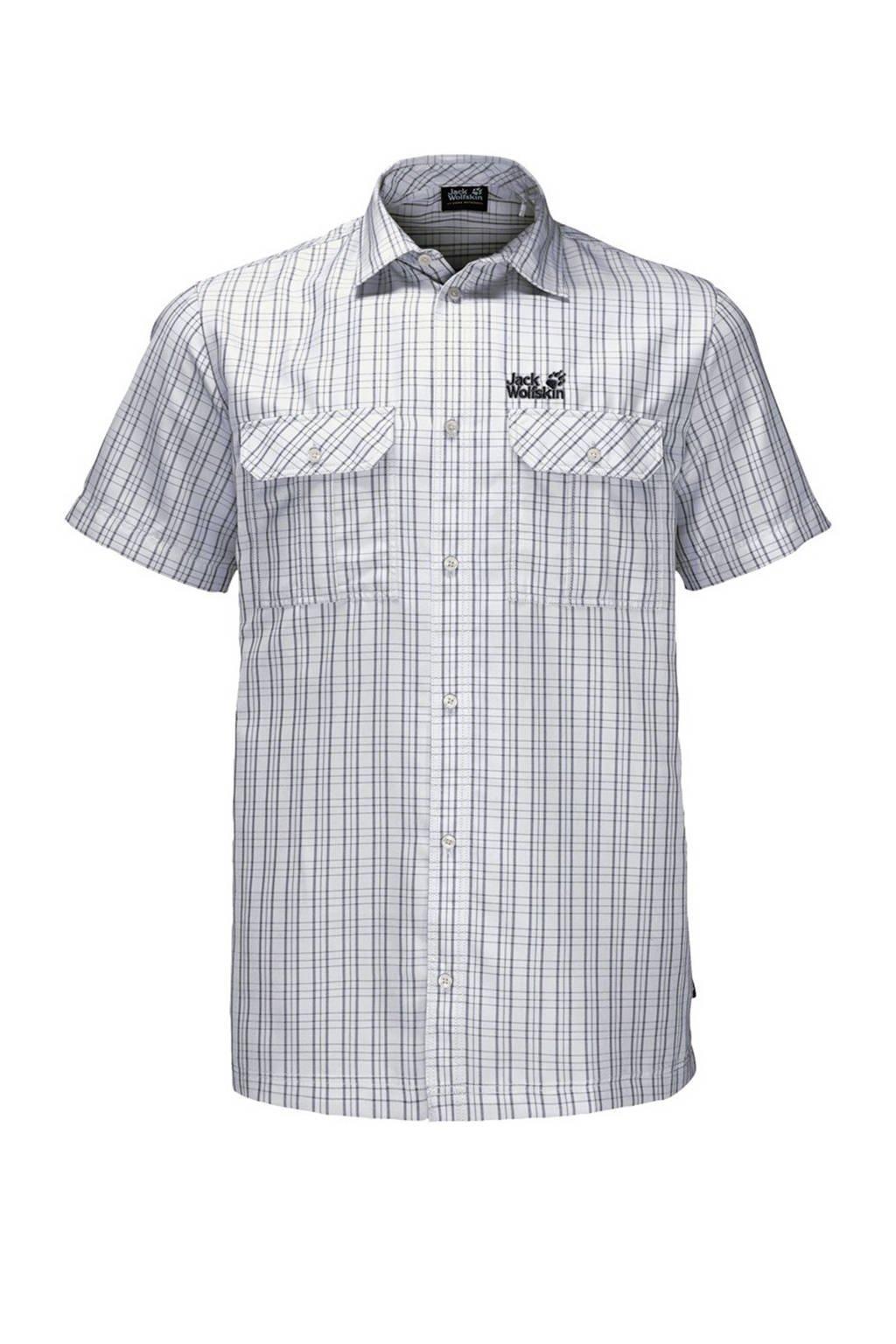 Jack Wolfskin outdoor overhemd blauw, White-Rush-Checks
