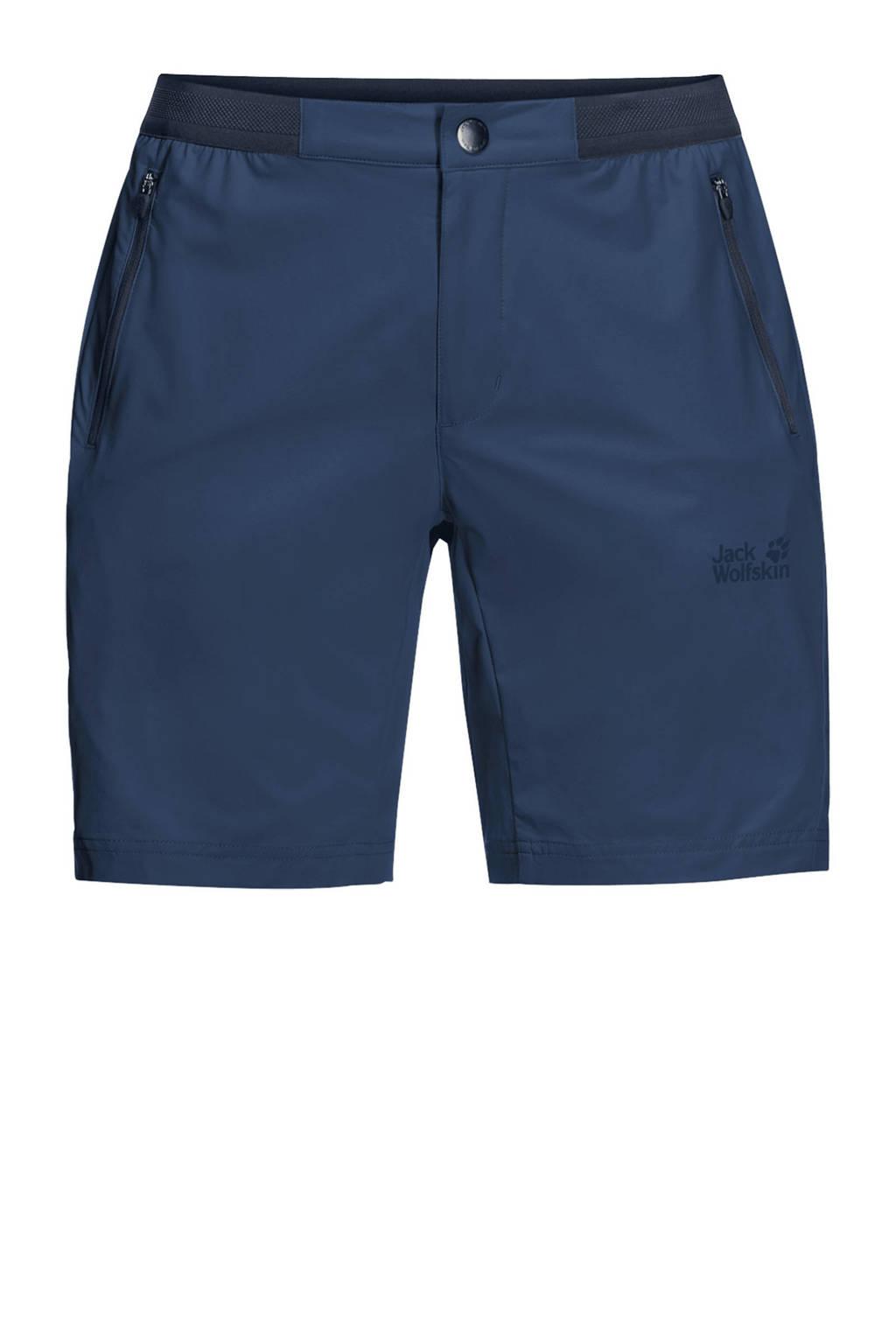 Jack Wolfskin korte outdoor broek donkerblauw, Dark-Indigo