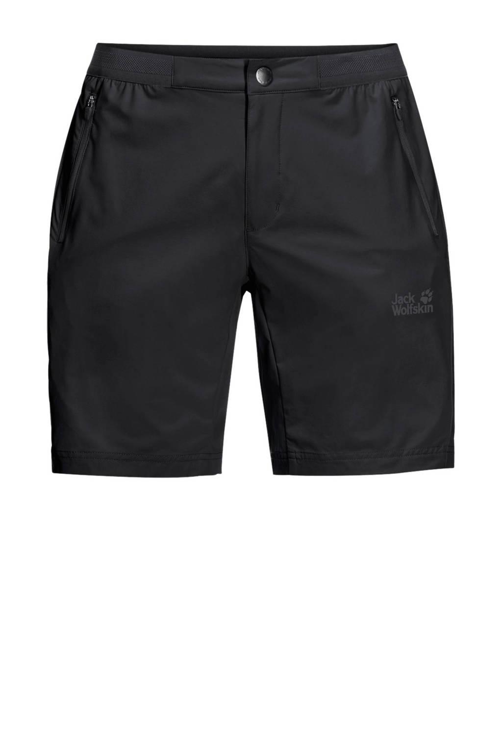 Jack Wolfskin korte outdoor broek zwart, Zwart