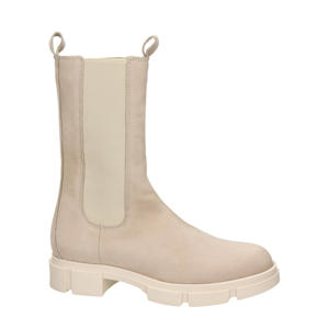 hoge nubuck chelsea boots ecru