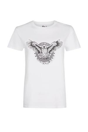 T-shirt Prove them wrong met printopdruk wit