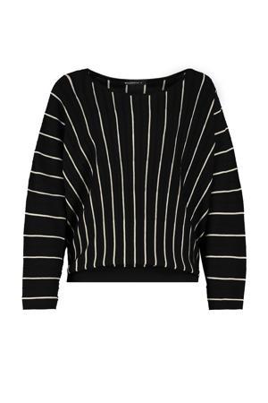 gestreepte trui Beauty zwart/wit