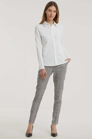 blouse Xanta van travelstof wit