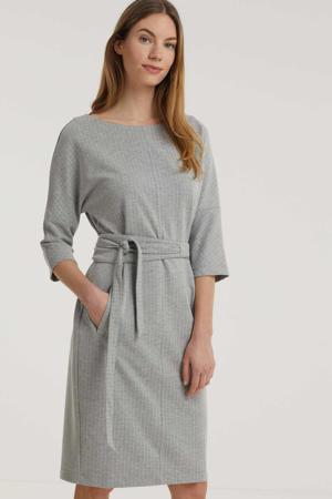 jurk Bdemi met ceintuur grijs melange