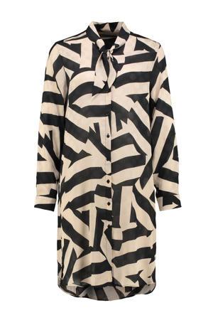 blouse Becca met all over print beige/zwart