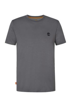 T-shirt met biologisch katoen antraciet