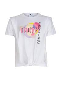 Jill & Mitch by Shoeby T-shirt Kira met printopdruk wit, Wit