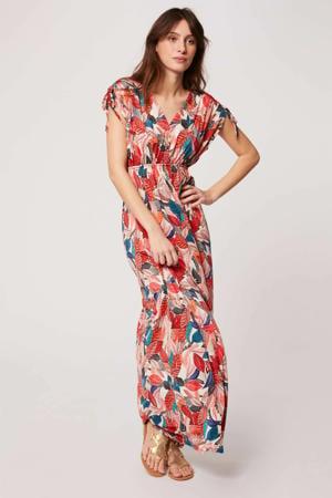 maxi jurk met all over print ivoire