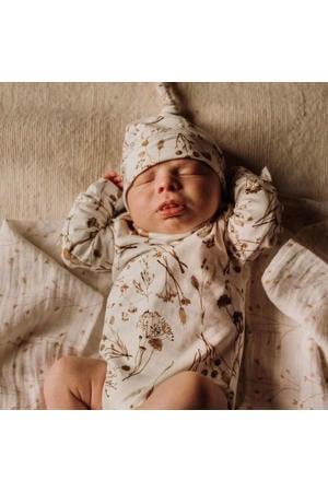 newborn romper Garlande off white/lichtbruin