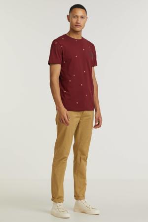 T-shirt van biologisch katoen pomegranate
