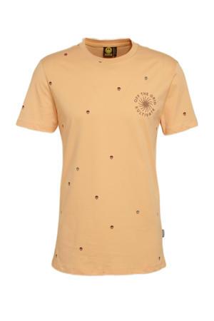 T-shirt van biologisch katoen peach nougat