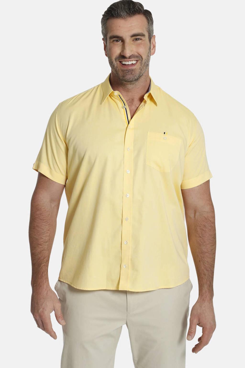 Charles Colby looose fit overhemd YVEN Plus Size geel, Geel