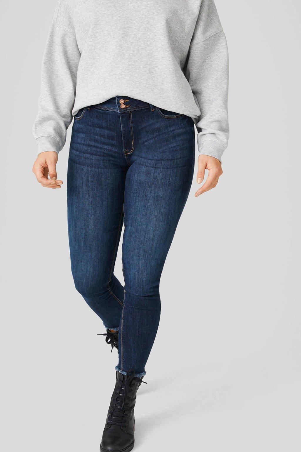 C&A XL Clockhouse skinny jeans donkerblauw, Donkerblauw