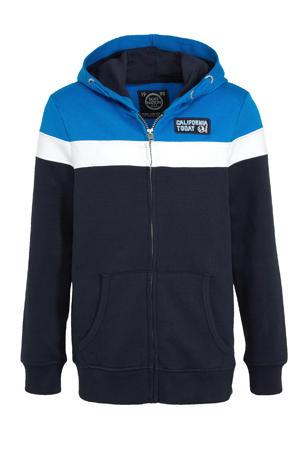 vest blauw/wit/donkerblauw