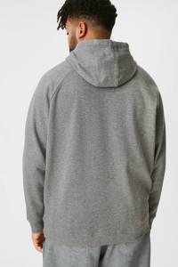C&A XL hoodie met tekst grijs melange, Grijs melange
