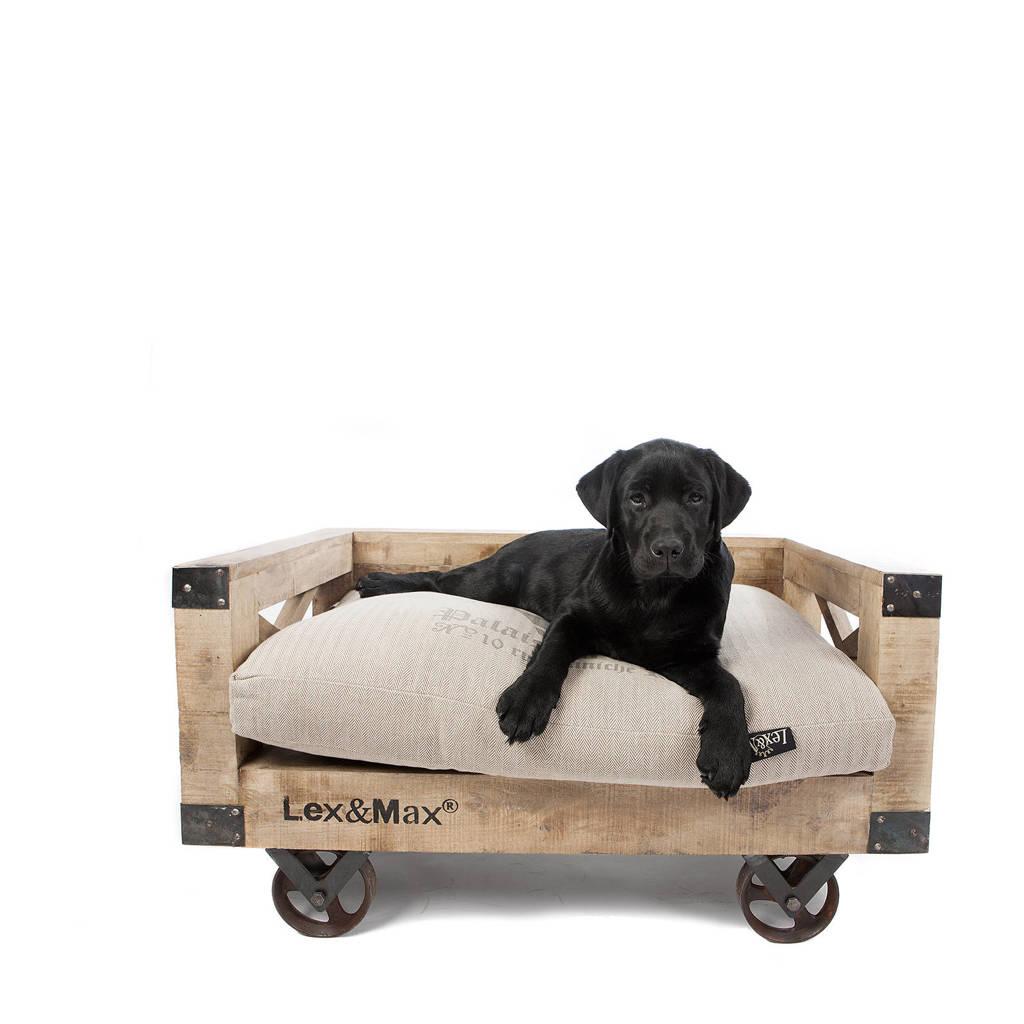 Lex&Max Divan op wielen - Hondendivan - 75X50cm - Hout, Zand