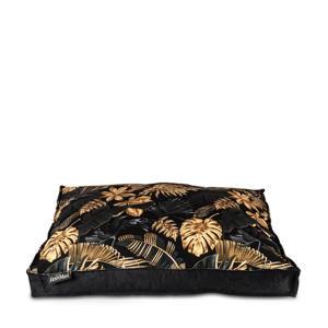 Dubai - Hondenkussen - Boxbed - 90x65x9cm - Zwart/Goud