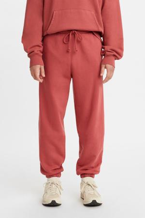 RED TAB  regular fit joggingbroek marsala garment dye