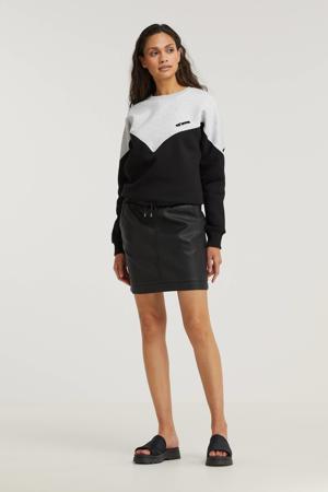 hoodie zwart/grijs melange