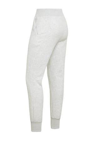 gemêleerde high waist slim fit joggingbroek grijs melange