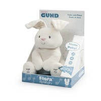 Gund Flora The Bunny geanimeerd pluche 30 cm interactieve knuffel, Crème