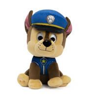 Paw Patrol Chase knuffel 15 cm, Blauw, Bruin