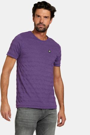 T-shirt Thijs met logo paars