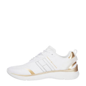 Knitted Light  sneakers wit/goud