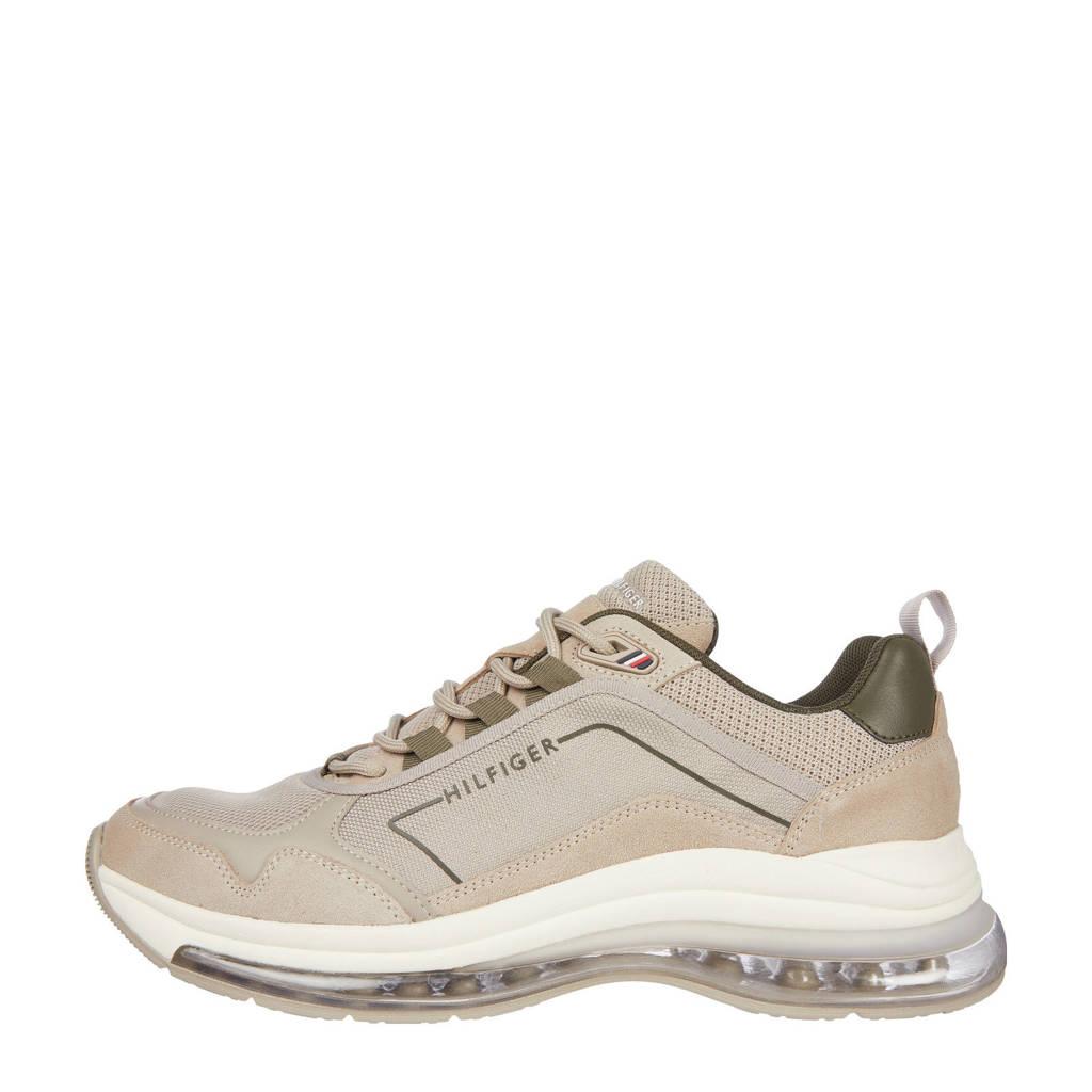 Tommy Hilfiger Air Runner Mix  leren sneakers beige, Beige