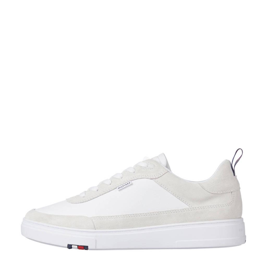 Tommy Hilfiger Modern Cupsole Leather Mix  sneakers wit/beige, Wit/beige