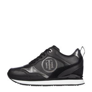 Metallic Dressy Wedge  sneakers zwart/zilver