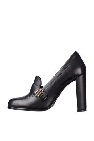 Essentials High Heel  leren pumps zwart