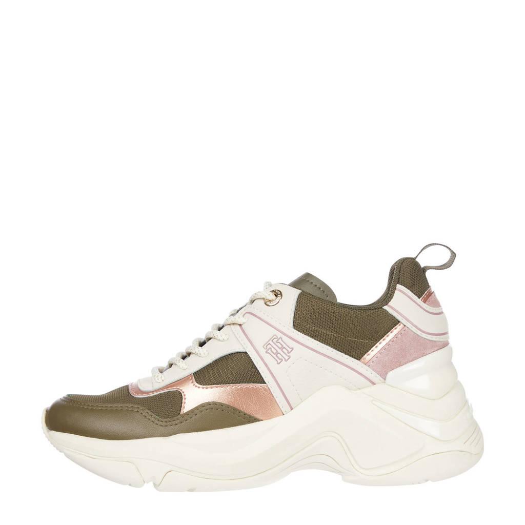 Tommy Hilfiger Fashion Wedge  chunky sneakers groen/multi, Groen/multi
