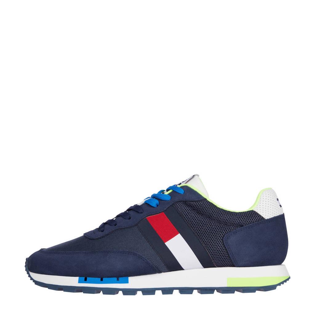 Tommy Jeans Retro TJM Mix Pop Runner  sneakers blauw, Blauw