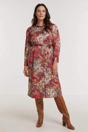 blousejurk MARGOT  met paisleyprint rood/multi