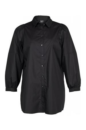 blouse SIERRA  met plooien zwart