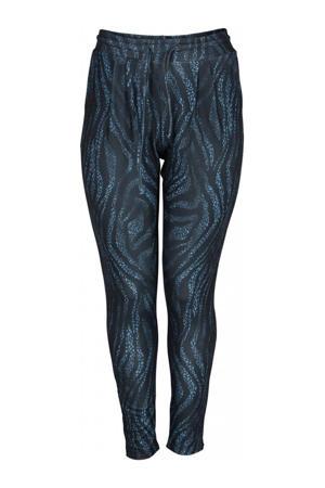 skinny broek EDITH PANTS met zebraprint blauw/zwart