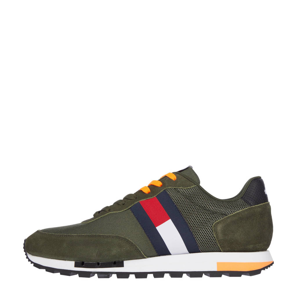 Tommy Jeans Retro TJM Mix Pop Runner  sneakers kaki, Kaki
