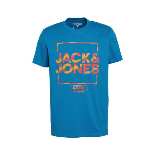 JACK & JONES CORE T-shirt Flash met logo deep water