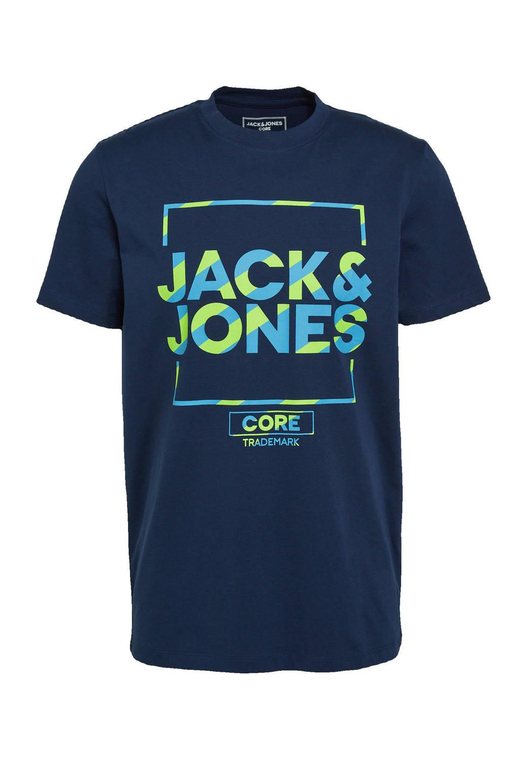 JACK & JONES CORE T-shirt Flash met logo navy blazer, Navy Blazer