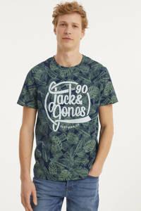 JACK & JONES ORIGINALS T-shirt met all over print navy blazer, Navy Blazer