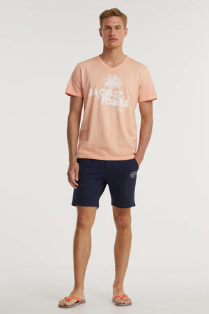 T-shirt Argon met logo cadmium orange