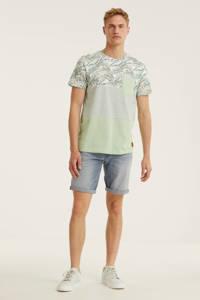 JACK & JONES ORIGINALS T-shirt Mixer met all over print mintgroen, Mintgroen