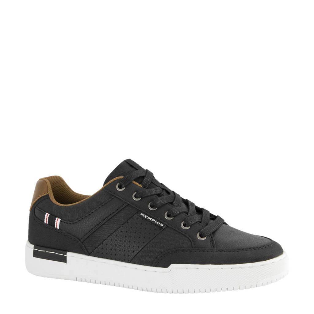 Memphis One   sneakers zwart, Zwart/bruin