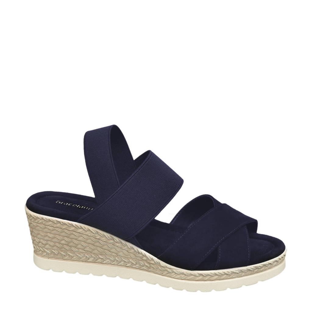 Graceland   sandalettes blauw, Blauw