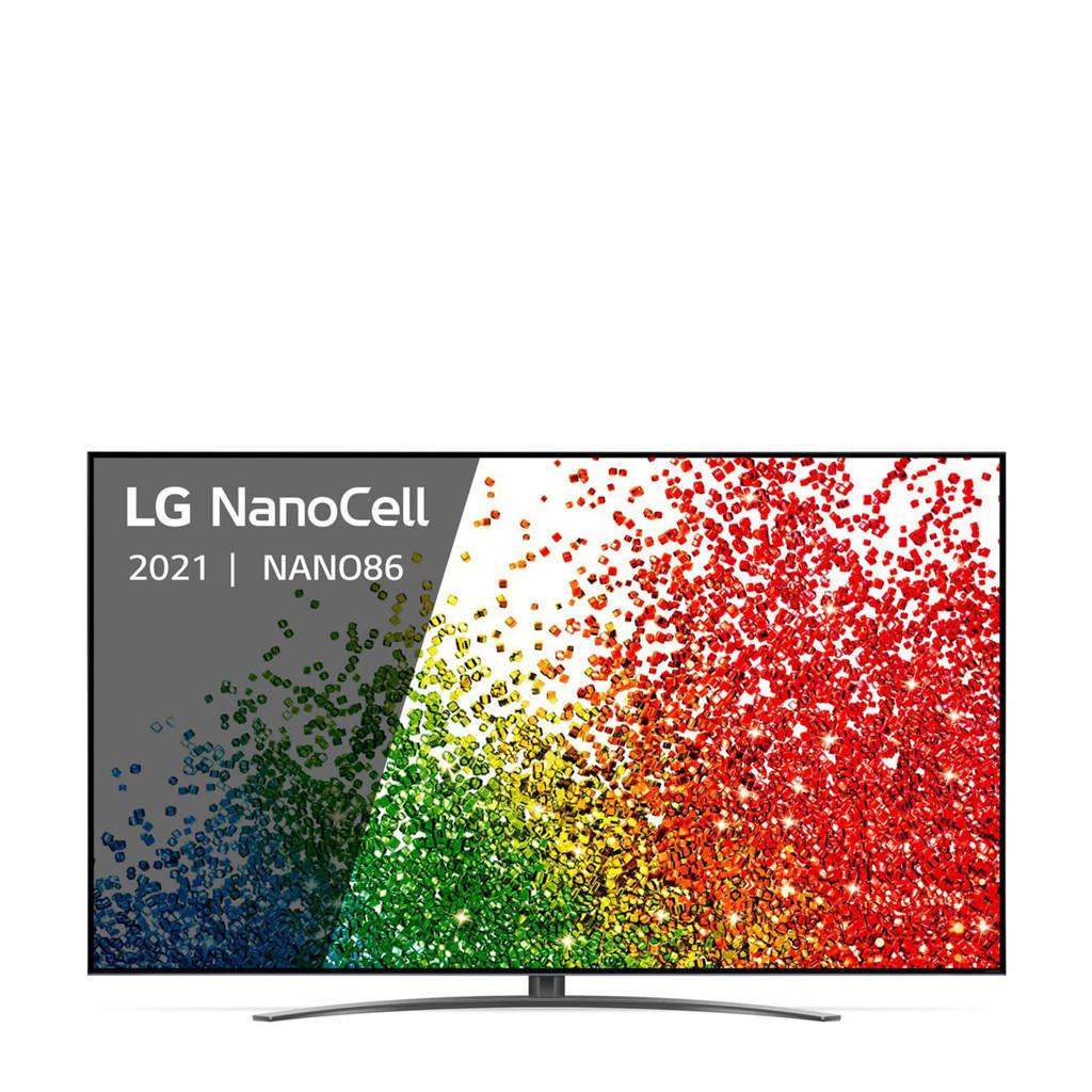 LG 86NANO866PA (2021) 4K Ultra HD tv, Zwart, zilver