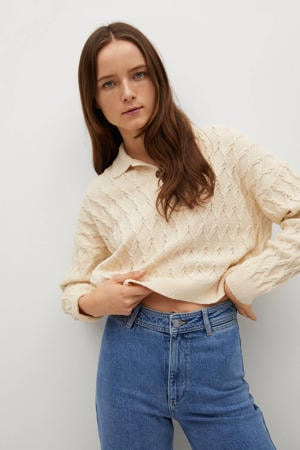 high waist loose fit jeans donkerblauw